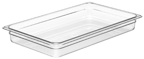 Food Gn 1/1 Pan (Cambro Camwear 12CW135 Food Pan, 1/1 by 2-Inch, Clear)