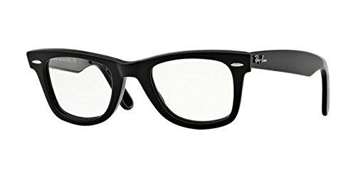 Ray-Ban Men's RX5121F Wayfarer Eyeglasses Shiny Black - Ray Eyeglasses Wayfarer Bans