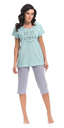 dn-nightwear - Pijama entero - para mujer Mint Grau