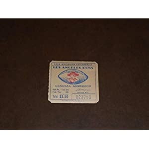 1946 AAFC LA DONS FOOTBALL TICKET STUB EX MINT