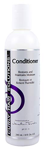 CURLY HAIR SOLUTION - Silk Conditioner (8 Ounce / 240 Milliliter) (Best Water Based Moisturizer For Relaxed Hair)