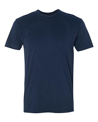 Next Level Apparel 6410 Mens Premium Fitted Sueded Crew Tee - Midnight Navy44; Large
