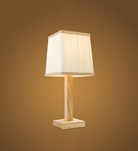 Creative Wood Pastoral Living Room Wood Decorative Table Lamp by Chandelier