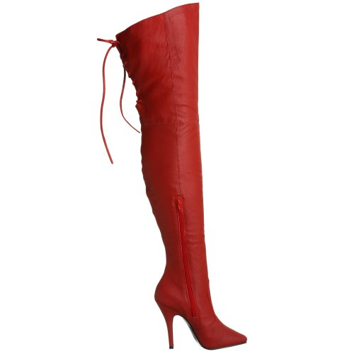 Pleaser LEGEND-8899 Red Leather (P) UK 13 (EU 46 )