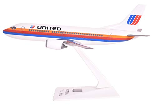 United (76-93) 737-300 Airplane Miniature Model Plastic Snap Fit 1:180 Part# - 757 Boeing Airlines United