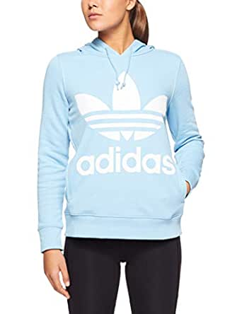 adidas Women's DH3145 Trefoil Hoodie, Clear Blue, 32