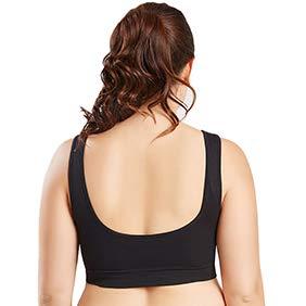 Canottiera sportiva da yoga con reggiseno sportivo push-up con spalline regolabili White XXXXL Bbl345dLlo Reggiseno sportivi donna