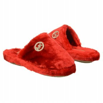 4fbd37d2fed5 Michael Kors Jet Set MK Faux Fur RED Slippers House Shoes Womens Size 5   Amazon.ca  Shoes   Handbags