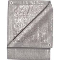 GYM6270 Standard Duty Silver Tarp, 4' x 6', Two Layer Polyethylene, Reinforced (Standard Tarp)