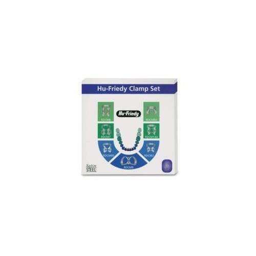(Dental Rubber Dam Clamp Set /7 Clamps 00 2 7 8 9 8A 14A RDCSET7 Hu Friedy)