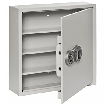 Buddy Products Drug Safe, Heavy-Duty Steel Construction, 6 x 20 x 20 Inches, Platinum (3222-32)