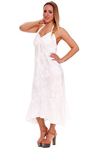Damen Original Pacific XXL Weiß Legend Hawaii Weiß Print Hawaiikleid Sommer S Blumen q5UtOU