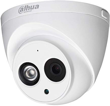 Dahua 4MP PoE IP Security Camera IPC-HDW4433C-A,4 Megapixels Super HD  Outdoor Surveillance Camera Dome with Built-in Mic for Audio,IR Night