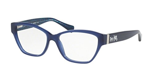 Coach Women's HC6088 Eyeglasses Milky Navy/Milky Navy Sig C - Glasses For Frames Coach Women