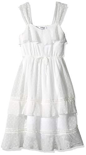 Girls White Dress Size 16 - Speechless Big Girls Tiered Full-Length Maxi