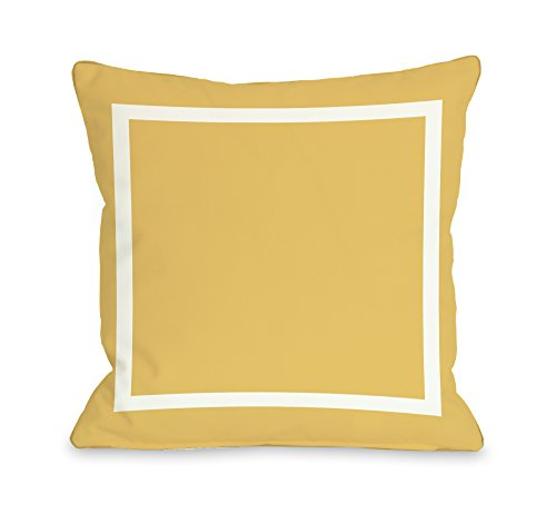 Bella Square Pillow - One Bella Casa Samantha Simple Square Throw Pillow by OBC, 26