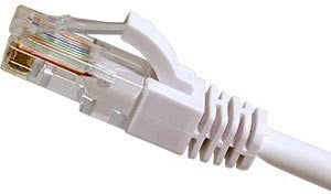Cables UK Cat6 UTP 24 AWG Flush Snagless Patch Lead White 1m