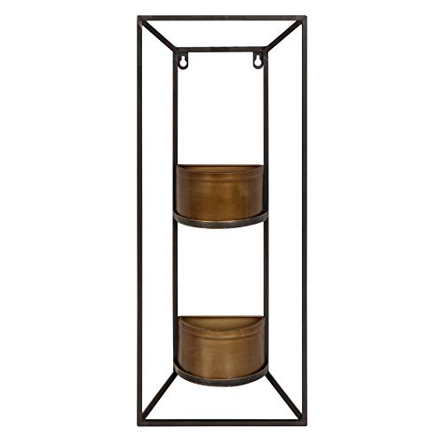 - Kate and Laurel Neil Indoor Copper Metal Wall Planter