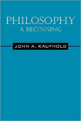 Philosophy A Beginning John Kaufhold 9781432791131 Amazon Books