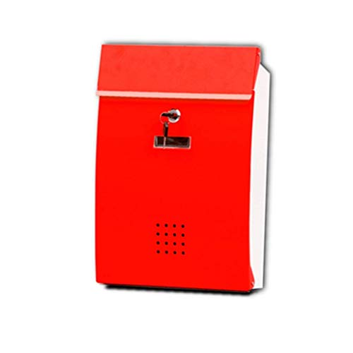 - Outdoor Wall-mounted Mailbox With Lock American Mailbox With Waterproof Cover Secure Letter Office Mailbox Garden Apartment (Color : Red)