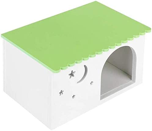 LCZ Caja De Plástico Puercoespín Ribete Casetta De Madera para Hamsters Casetta Cabina De Simulación para La Simulación Ecológica Jaula del Animal Doméstico con La Ventana Verde,Verde: Amazon.es: Deportes y aire libre