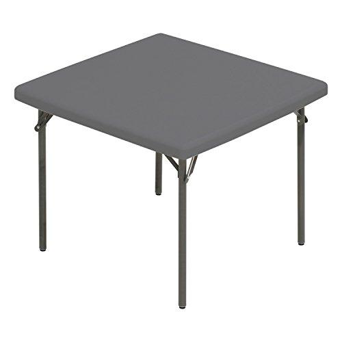 Iceberg 65273 IndestrucTable TOO Folding Table, 37 Square, Platinum Made in USA