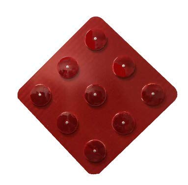 Red End of Road Diamond Reflector- 18
