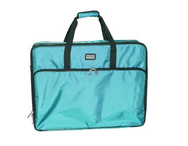 """Tutto 26"""" Turquoise Embroidery Project Bag"""
