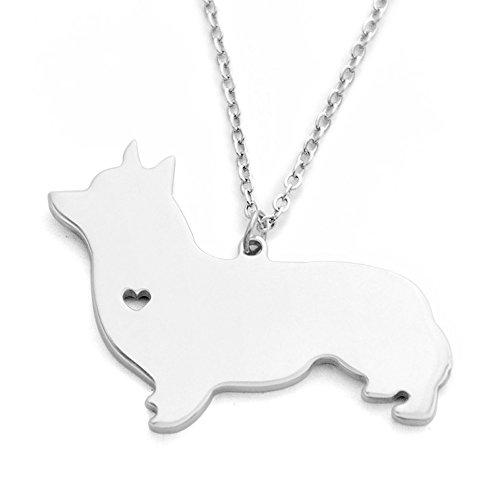 (Welsh Corgi Necklace Welsh Corgi Pendant I Love Heart Welsh Corgi Necklace Animal Necklace Dog Necklace)