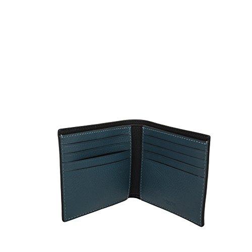 F24647 DOUBLE WALLET COACH Blue Dark DOUBLE COACH BILLFOLD xnqFF8E7Xw