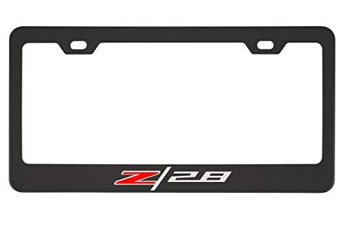 Chevy Camaro Z28 Black Chrome License Plate Frame (Zinc)