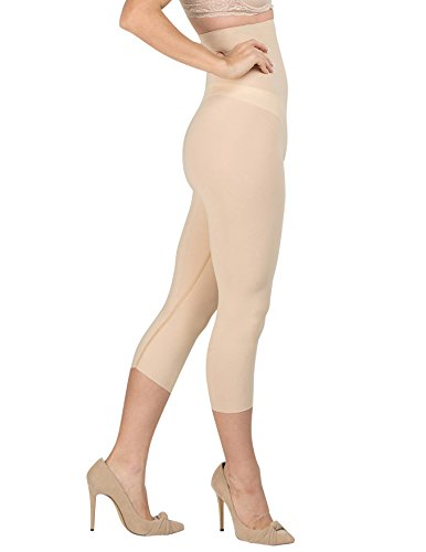 Medium Delfin Spa - Delfin Spa Women's Body Slimming High Waist Shapewear Capris, Nude, 3X-Large