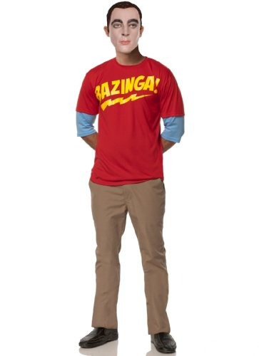 Mystery House Sheldon's Bazingang Outfit, Red/Beige/Yellow, (Sheldon Outfit)