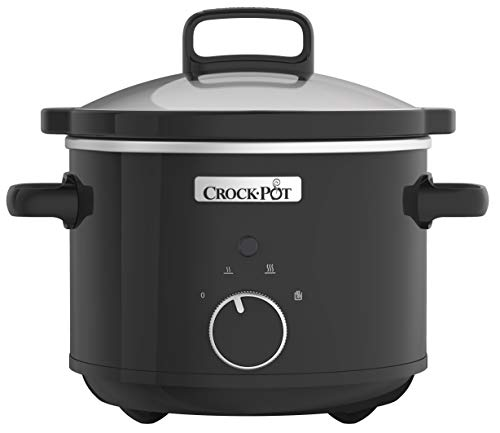 Crock-Pot CSC046 Slow Cooker 2.4 Litre Black (220 Volts – Not for USA) (Renewed)