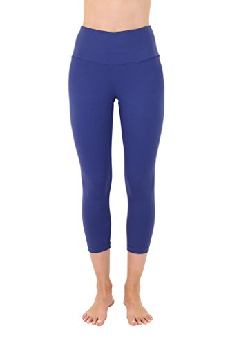 90 Degree By Reflex – High Waist Tummy Control Shapewear – Power Flex Capri-Spring Navy-L