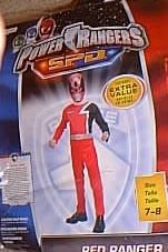 Power Rangers Red SPD Costume for Child Size -