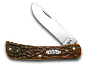 CASE XX Chestnut Jigged Bone Sod Buster CV Pocket Knife Knives