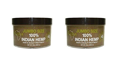 Set of 2 Kuza 18 oz. Jumbo Size 100% Indian hemp Hair and Sc