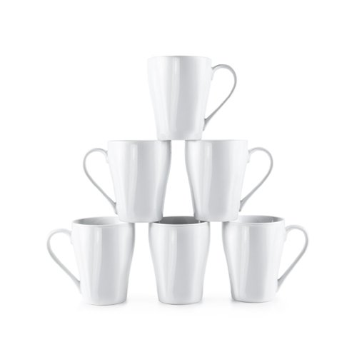 Amuse- Bistro Gourmet Durable Coffee Mug Set- (Set of 6) 12 ounces