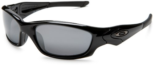 oakley mens straight jacket iridium  oakley polarized straight jacket polished black/black iridium men's sunglasses: oakley: amazon.ca: shoes & handbags