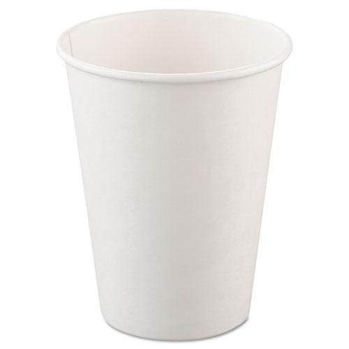 SOLO® Cup Company Polycoated Hot Paper Cups, 12 oz., White, 50/Bag