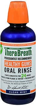 TheraBreath Healthy Gums Oral Rinse Clean Mint - 16 oz, Pack of 6