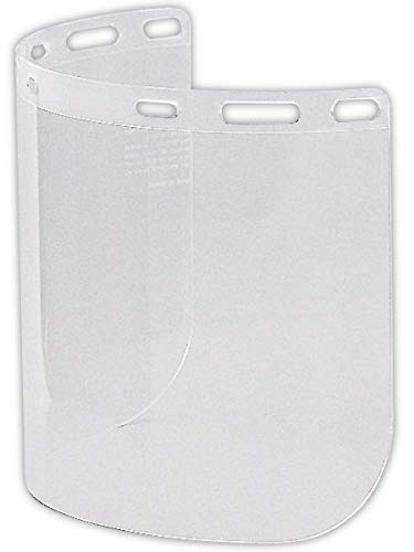 Gateway 654 Polycarbonate Faceshield, Standard, Clear (Pack of 25)
