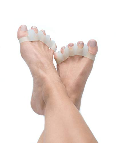 Sole Essentials Gel Toe Separators, Soft Gel Eases Toe Pain, Helps Align Crooked and Hammertoes
