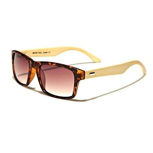 53dd61160a Aggressive Mind Wayfarer Madera Bambú Gafas De Sol Fashion Unisex Hombres  Mujeres Gafas Nerd Aviador 33 Colores - Modelo 1/2: Amazon.es: Ropa y  accesorios