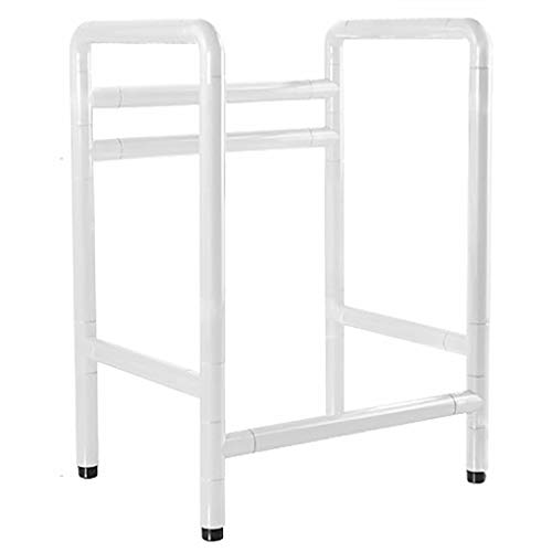 WSHD Healthcare Safety Free Standing Toilet Surround Frame Stainless Steel and Nylon Grab Bar,Ideal for Elderly & Disabled, No Floor Fixing ()