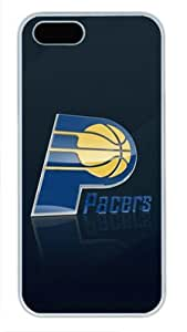 NBA Indiana Pacers Logo Iphone 5/5S White Sides Hard Shell Case by eeMuse