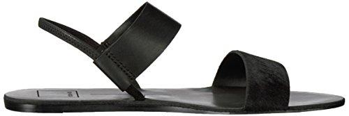 Dolce Vita Kvinners Demi Flat Sandal I Sort Skinn
