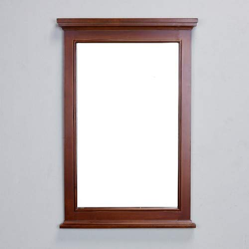 Eviva EVMR709-24TK Elite Stamford Teak(Brown) Full Framed Bathroom Vanity Mirror - Teak Bathroom Mirrors Framed