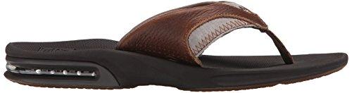 Reef Herren Leather Fanning Sandalen, Braun (Brown) Braun (BROWN/BROWN BR2)
